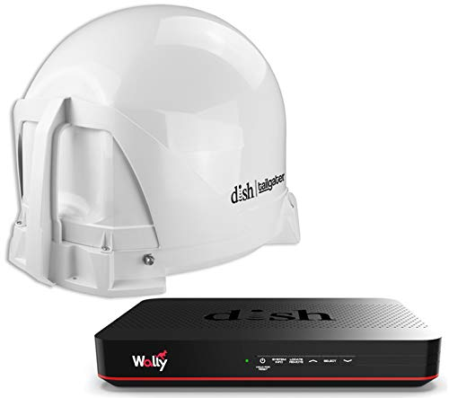 KING DISH VQ4450 Tailgater Bundle - Portable Satellite TV Antenna and DISH Wally HD Receiver