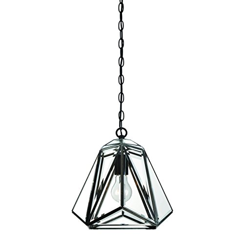 Eurofase Glacier Prism Lantern, Tiffany Glass Shade, Hand Crafted Frame, 1 A19 Light Bulb, 12 Inches High-Model 31644-013, - Tiffany And Co Model