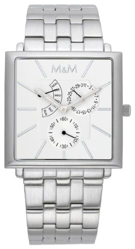 M&M Men's Watch Unlimited Multifunction Dial Color Silver