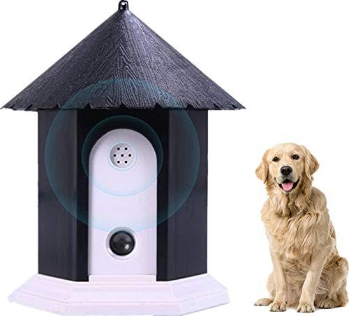 Zoohao Anti Barking Device, Waterproof Outdoor Ultrasonic Stopping Barking, Sonic Bark Deterrents, Dog Bark Controller in Birdhouse Shape (Black)