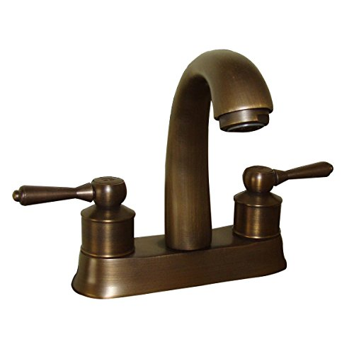 (Renovator's Supply Antique Brass Classic Bathroom Sink Faucet Centerset 2 Lever)
