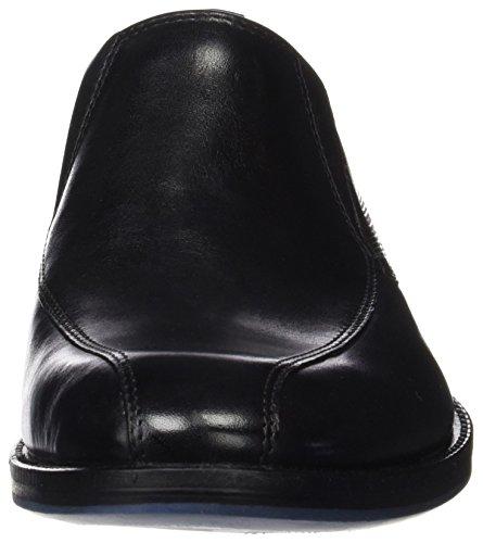Clarks Men's Prangley Step Loafers, Black, 6.5 UK Black (Black Leather)
