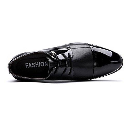 Splice Mate Oxford Eu Negro Tamaño Hombre 2018 Forrados Zapatos color Cordones Cuero shoes Con Pu Negro Respirables Smooth 47 De Hombre Fang Negocios fz68CWqw1U