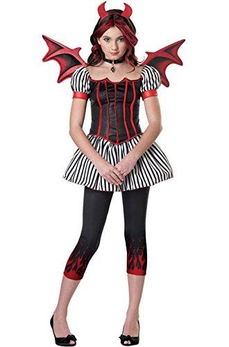 [Mememall Fashion Devil Demon Angel Tween Costume] (Angel And Demon Costumes)