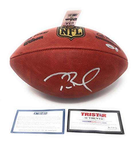 Tom Brady New England Patriots Signed Autograph NFL Authentic Duke Football Steiner Sports & Tristar Authentic Certified ()