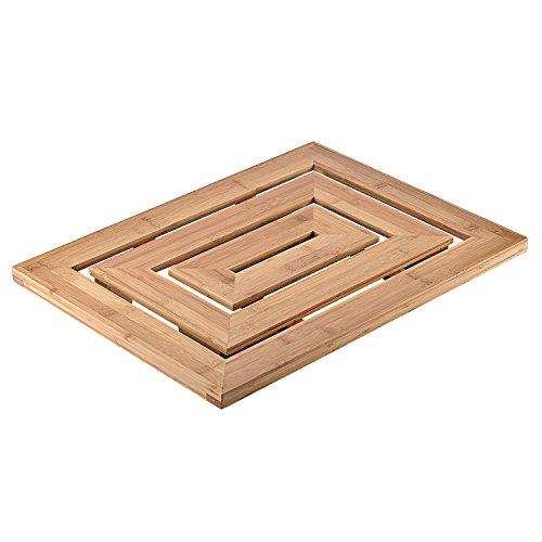 Shower mats hanzeek luxury 100 bamboo natural floor for 100 floors floor 23