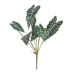 Duovlo 7 Branches 25.5 Inch Artificial Tropical Monstera Palm Tree Leaves Plants for Hawaiian Safari Party Jungle Beach Party Wedding Decorations,Pack of 1 7