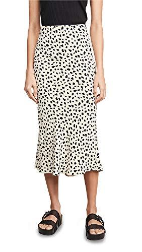 Moon River Women's Leopard Print Skirt, Leopard Print, Large