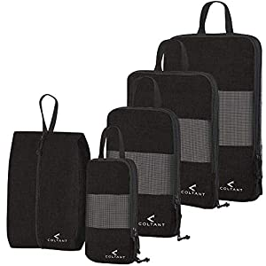 5 Set Compression Packing Cubes Travel luggage Suitcase Organizer Set Packs More in Less Space