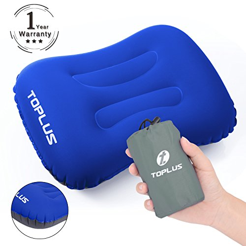 TOPLUS Inflatable Camping Pillow, Compressible and Compact Travel Pillow for Outdoor Camping