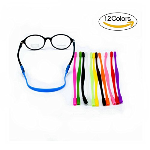 12 Colors Anti-slip Glasses Strap Sports Glasses Strap Holder for Kids ,Glasses chain 12 - Kids Eyeglasses Strap