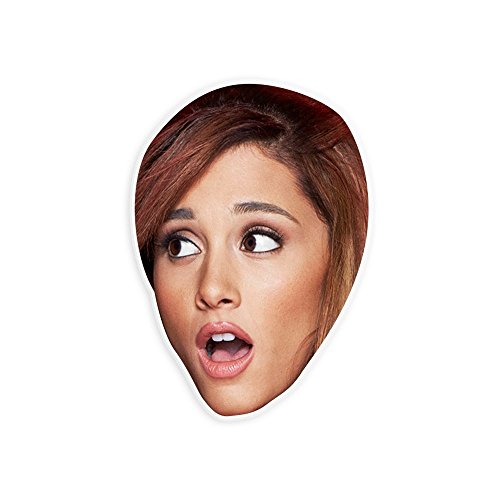 Surprised Ariana Grande Mask - Perfect for Halloween, Masquerade, Parties, Events, Festivals, Concerts - Jumbo Size Waterproof Laminated - Halloween Costumes Ariana Grande