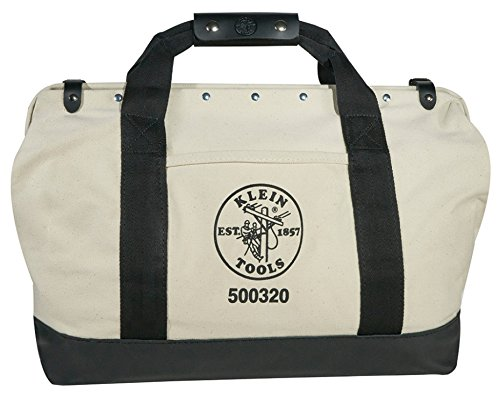 Klein Tools 5003-20 Canvas Tool Bag with Leather Bottom, 20-Inch by Klein Tools