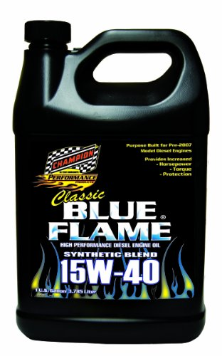 Blue Flame Synthetic Blend (Champion Brands 4359N-EACH 'Classic Blue Flame' 15W-40 Diesel Motor Oil - 1 Gallon)