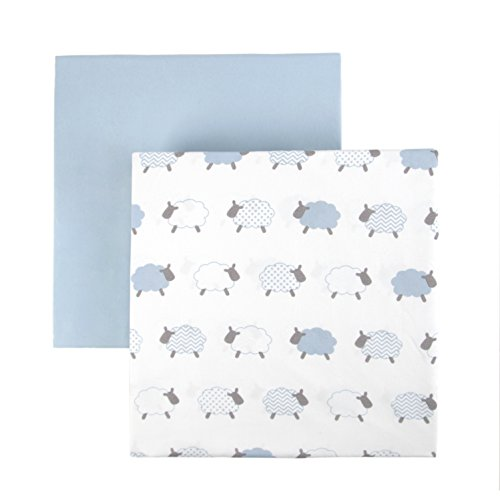Tadpoles 2 Piece Microfiber Crib Fitted Sheets, Lamb, for sale  Delivered anywhere in Canada