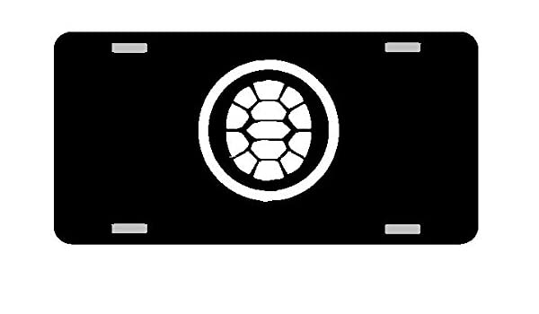 Amazon.com : Ninja Turtle Shell Logo License Plate Gloss ...