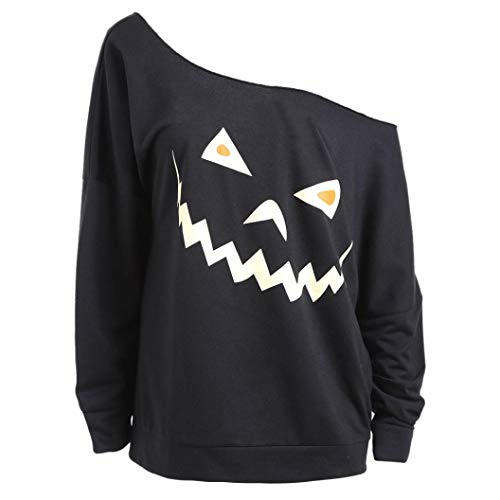 Women's Halloween Ghost Print Long Sleeve Sweatshirt Autumn