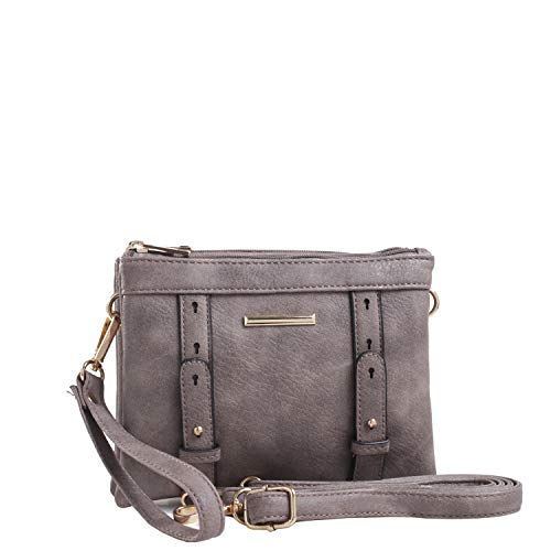 MKF Collection by Mia K. Farrow Cara Double Compartment Crossbody Light Taupe