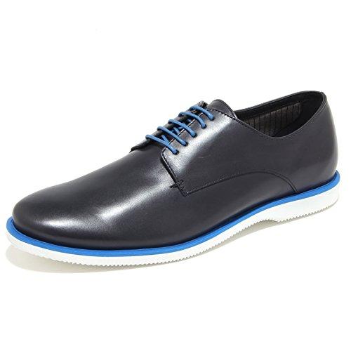 0291N scarpa classica HOGAN DERBY sneaker uomo shoes men blu blu denim