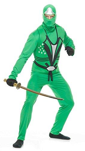 Ninja Avenger Costume Green (Green Ninja Avengers Series II Adult Costume)
