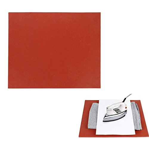 Poever 12×15'' Silicone Pad Flat Heat Press Replacement Heat Resistant Silicone Mat Red by Poever
