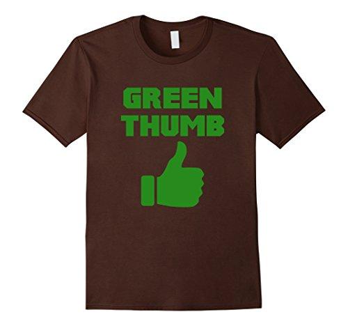 Mens Green Thumb Cute Gardeners Gift T-Shirt Large Brown
