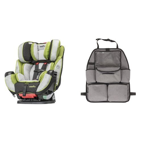 vertible Car Seat, Porter with Deluxe Car Backseat Organizer, Grey Melange ()