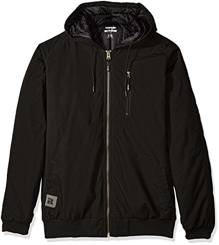 Wrangler Coat (Wrangler Riggs Workwear Men's Big and Tall Utility Hooded Jacket, Black, 3X/Tall)