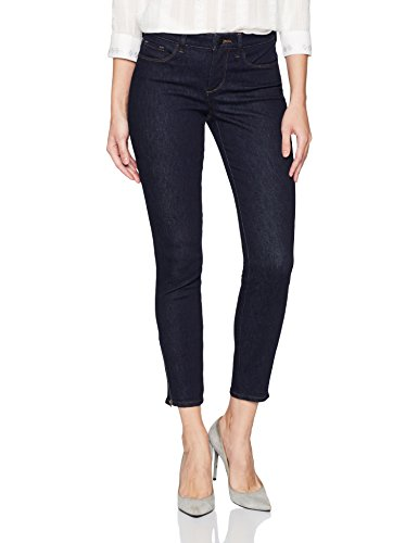 NYDJ Women's Dylan Skinny Ankle With Zipper Hem In Premium Denim, Rinse, 14