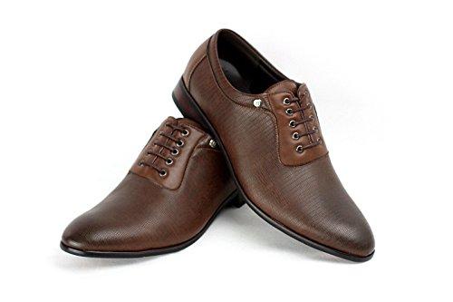 Uomo 6 Stile 11 9 Marrone In Da 7 Moda UK Oxford Pelle Look Scarpe misura Italiana 10 8 qw415xp
