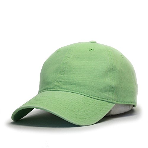 (Vintage Washed Dyed Cotton Twill Low Profile Adjustable Baseball Cap (Lime))