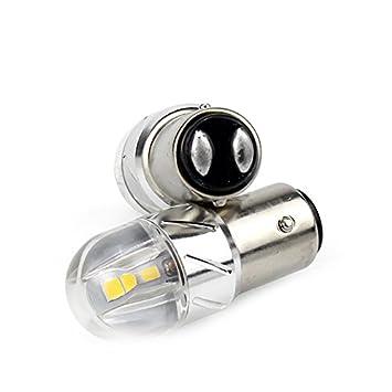 Super Bright 2X680 Lumens 1157 1141 1003 3030 6SMD Led Light Bulb Use for Back Up Reverse Lights,Brake Lights,Tail Lights,Rv lights White
