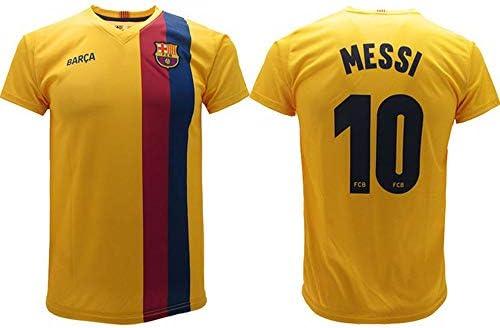 18 D 20-21 Barcellona Away Game Maglia Calcio Lionel Messi 10 Fan ...