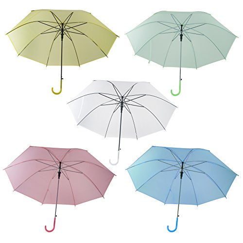 Aspire Pack of 6 Pcs DIY Umbrellas Painting Parasol Great Gifts For Kids Party Decoration - Yellow,60 Packs by Aspire (Image #1)