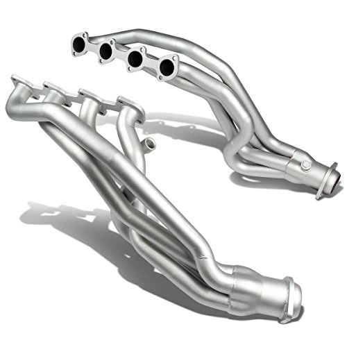 For Ford Mustang GT 4-1 Design 2-PC Stainless Steel Long Tube Exhaust Header Kit (Silver Ceramic Coated) - (Ceramic Coated Headers)