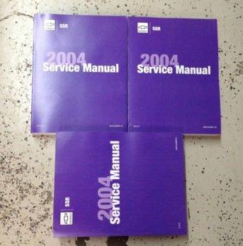 2004 Chevy Chevrolet SSR S/T ST TRUCK Service Shop Repair Manual Set FACTORY NEW