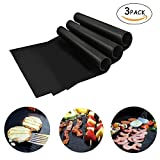 ELEOPTION Heavy Duty BBQ Grilling Pad 100% Non-stick Oven Liner Teflon Baking Mats 16 x 13 Inch for Barbecue, Grilling, Oven, Stove Cooking and Baking (3)