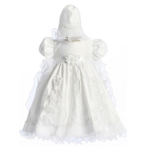 Size 12M, 18//24M, 2 Baptism Christening Dress with Virgin Mary Embroidery