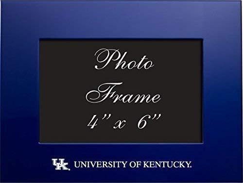 University of Kentucky - 4x6 Brushed Metal Picture Frame - Blue (Kentucky Frame)