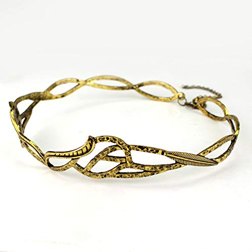 Vintage ELROND CROWN The Elf Elven Wreath Gold Sliver Tolkien Costume Accessory LOTR Hair Accessories Gift,08