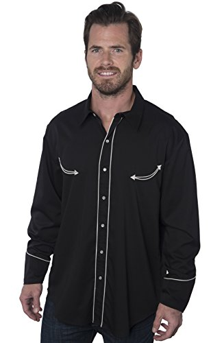 Las Vegas Casino Black Dress Western Shirt, Benny's - Benny Black