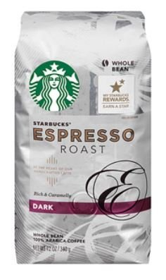 (2 Hustle off) Starbucks® Dark Espresso Roast Whole Bean Coffee, 12 oz