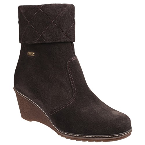 Cotswold Womens/Ladies Cornwell Waterproof Zip up Fashion Ankle Boots Red