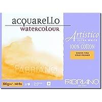 Fabriano Artistico 140 lb. Cold Press 20 Sheet Block 9x12 - Extra White