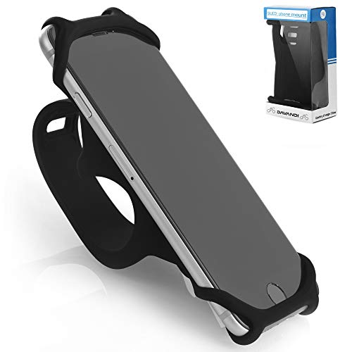 TeamObsidian Bike Phone Mount [ Size L ] Made of Durable Non-Slip Silicone. Mobile Cellphone Holder/Universal Cradle for All Bicycle Handlebars and 99% of Smartphones: iPhone 8, 7, 6, 5, Samsung etc. ()