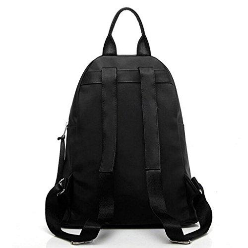 Y&F Weiblich Nylon Rucksack Schulranzen Schultertaschen Handtasche schwarz 31 * 35 * 14 cm