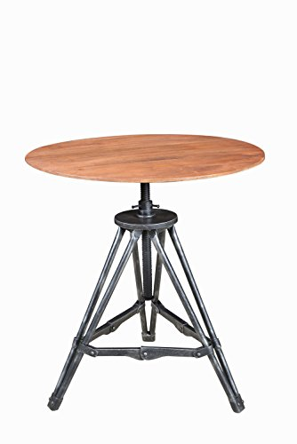 Pulaski Cherry Table - Pulaski Modern Wood and Metal Tripod Accent Table with Cherry Finish, Medium
