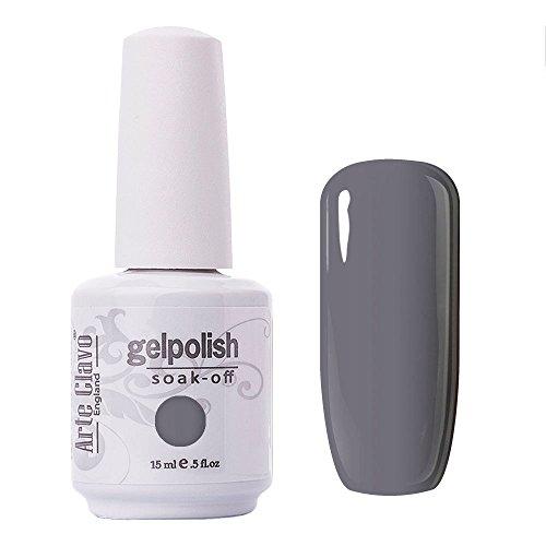 Arte Clavo Gel Polish Soak Off UV LED Lamp Lacquer Nail Art Varnish Professional 15ml Light Grey