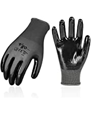 Vgo 10Pairs Nitrile Coating Gardening and Work Gloves (Grey, NT2110)