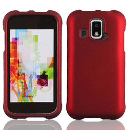 LF 4 Item Bundle - Designer Case Cover, Lf Stylus Pen, Screen Protector & Wiper for (US Cellular) Kyocera Hydro XTRM C6721 (Red)